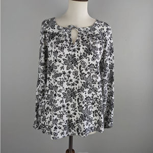 Express Small Career Floral Lightweight Blouse